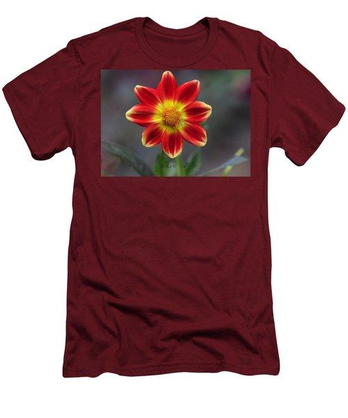 Dahlia Men's T-Shirt (Slim Fit) by Diane Giurco