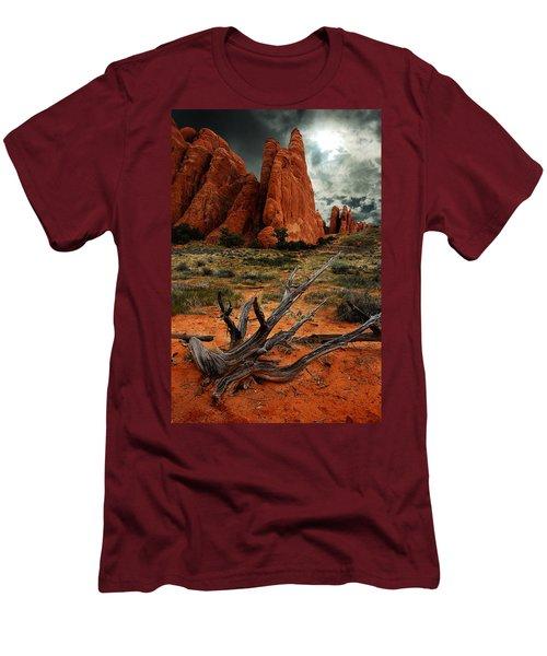 Men's T-Shirt (Slim Fit) featuring the photograph Desert Floor by Harry Spitz