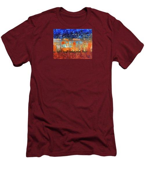 Desert Strata Men's T-Shirt (Slim Fit) by Walter Fahmy