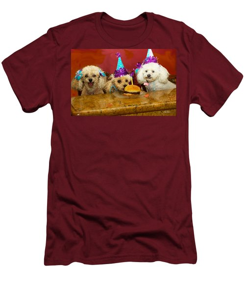 Dog Party Men's T-Shirt (Athletic Fit)