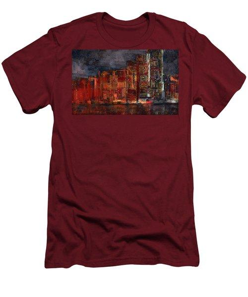 Downtown Men's T-Shirt (Slim Fit) by Alex Galkin
