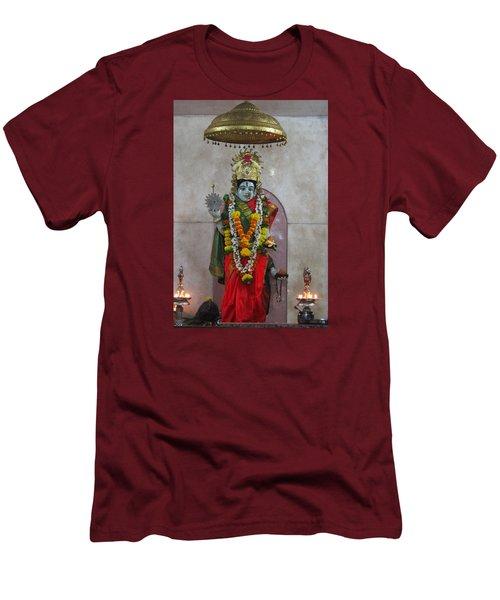 Downtown Ganeshpuri Durga Temple Men's T-Shirt (Slim Fit) by Jennifer Mazzucco