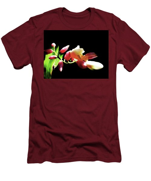 Dramatic Oriental Orchid Men's T-Shirt (Slim Fit) by Tina M Wenger