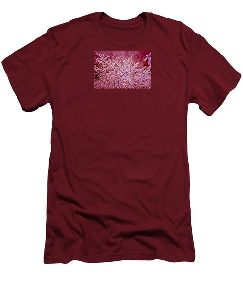 Men's T-Shirt (Slim Fit) featuring the photograph Dreaming In Red - Winter Wonderland by Susanne Van Hulst