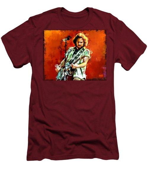 Eddie Vedder Painting Men's T-Shirt (Athletic Fit)