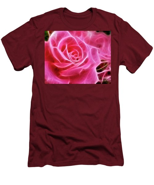 Electric Pink Men's T-Shirt (Athletic Fit)