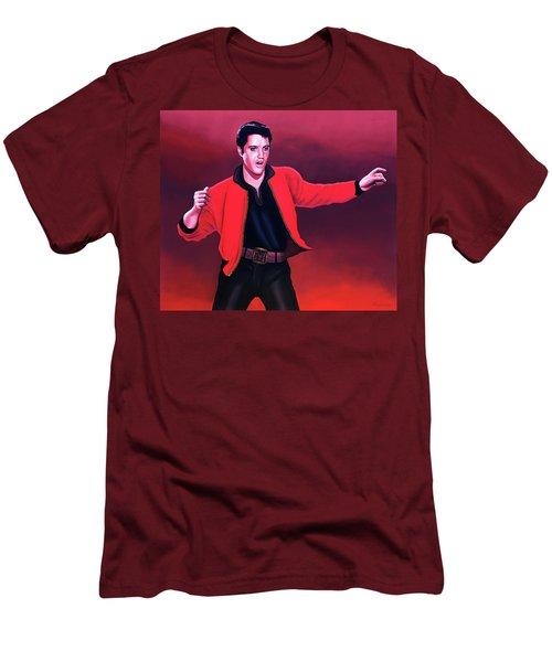 Elvis Presley 4 Painting Men's T-Shirt (Slim Fit) by Paul Meijering