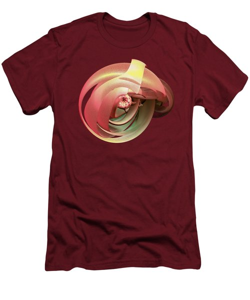 Men's T-Shirt (Slim Fit) featuring the digital art Embryo Abstract by Linda Phelps