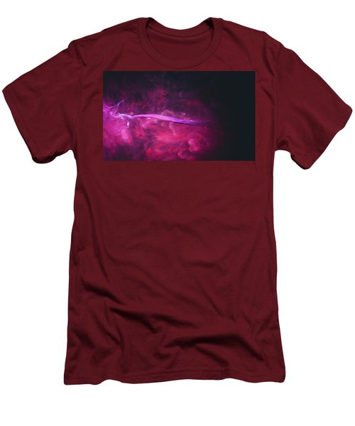 Enigma - Purple Abstract Photography Men's T-Shirt (Slim Fit) by Modern Art Prints
