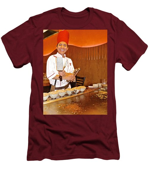 Entertaining Chef At Benihana In Monterey-california Men's T-Shirt (Athletic Fit)