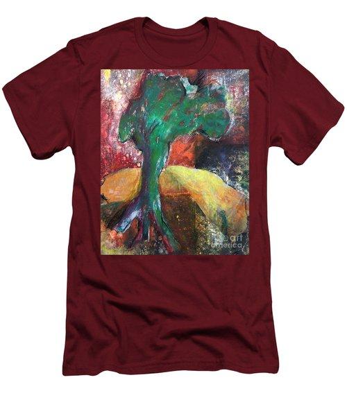 Escaped The Blaze Men's T-Shirt (Slim Fit) by Elizabeth Fontaine-Barr