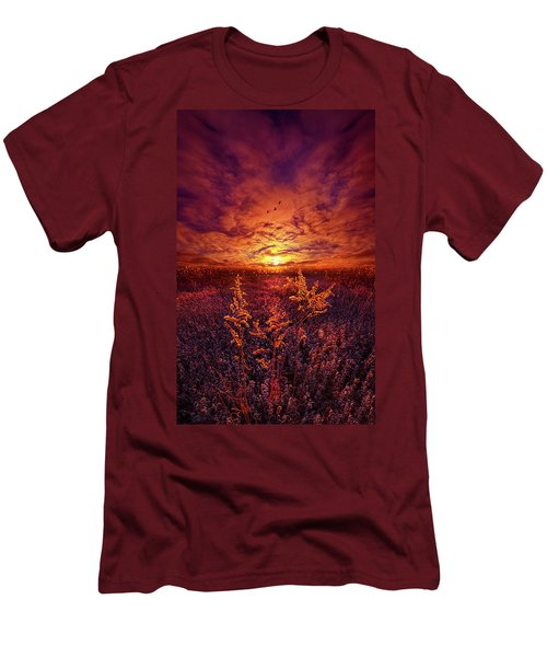 Men's T-Shirt (Slim Fit) featuring the photograph Every Sound Returns To Silence by Phil Koch