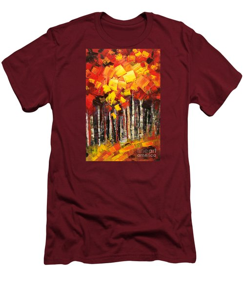 Men's T-Shirt (Slim Fit) featuring the painting Exaltant by Tatiana Iliina