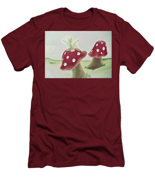 Fairy On Mushroom Trees Men's T-Shirt (Athletic Fit)