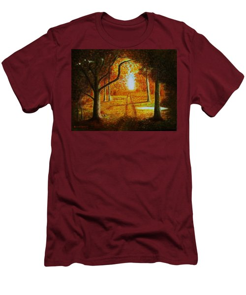 Fall In The Woods Men's T-Shirt (Slim Fit) by Gene Gregory