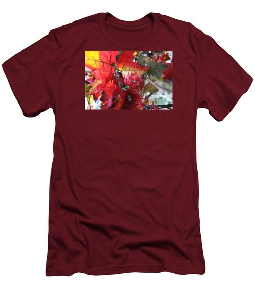 Fall Leaves Design 4 Men's T-Shirt (Athletic Fit)