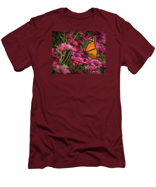 Men's T-Shirt (Athletic Fit) featuring the photograph Fall Monarch  by Julie Andel