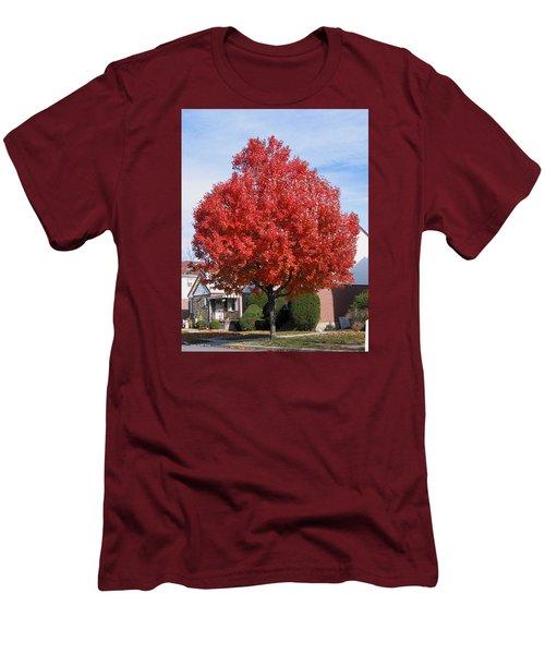Men's T-Shirt (Slim Fit) featuring the photograph Fall Season by Suhas Tavkar