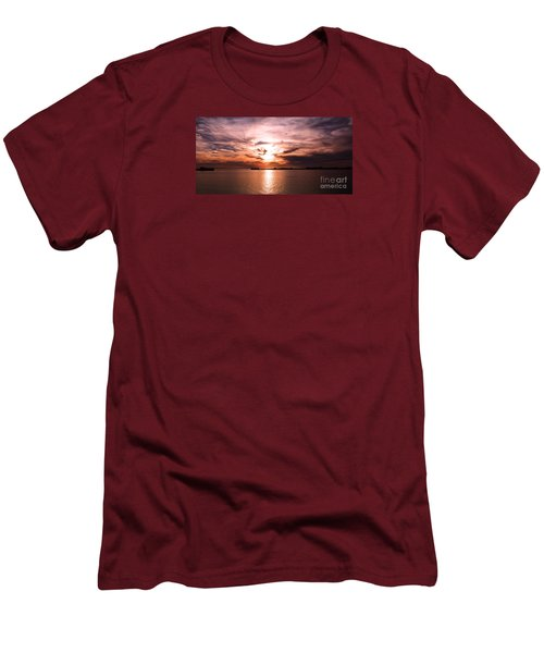 Fiery Tranquility  Men's T-Shirt (Slim Fit) by Rebecca Davis