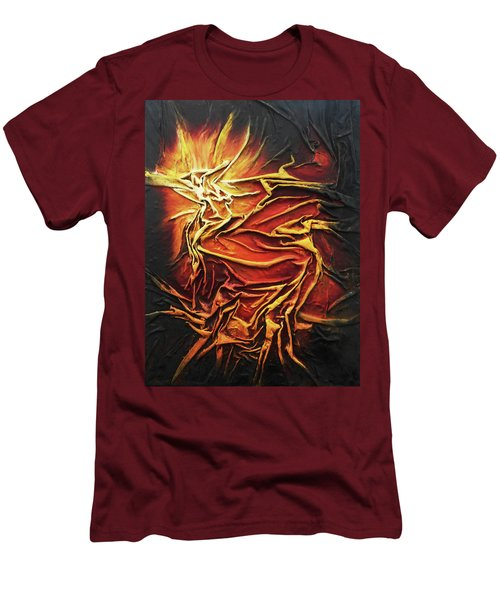 Fire Men's T-Shirt (Slim Fit) by Angela Stout