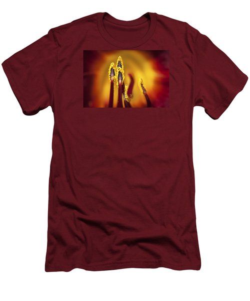 Fire Dancers Men's T-Shirt (Slim Fit) by Christina Lihani