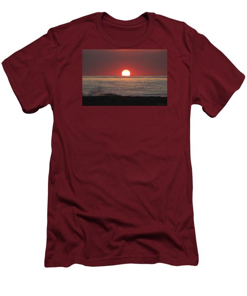 Men's T-Shirt (Slim Fit) featuring the photograph Fishing Boat Sunrise by Robert Banach