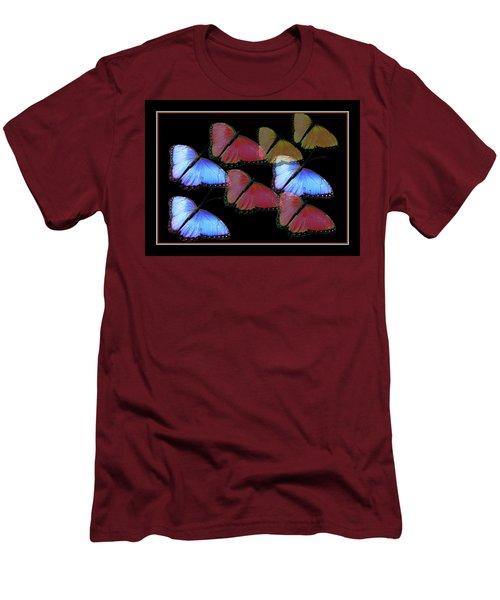 Flight Of The Butterflies Men's T-Shirt (Slim Fit) by Rosalie Scanlon