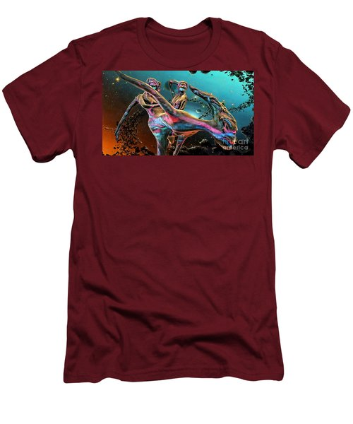 Floating In The Universe Men's T-Shirt (Slim Fit) by Ian Gledhill