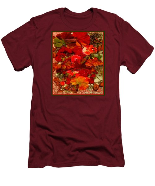 Men's T-Shirt (Slim Fit) featuring the mixed media Flowers For You by Ray Tapajna