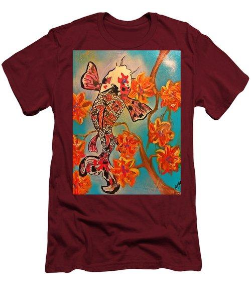 Focus Flower  Men's T-Shirt (Slim Fit) by Miriam Moran