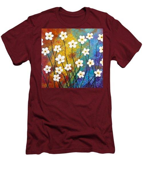 Frangipani Explosion Men's T-Shirt (Slim Fit) by Teresa Wing