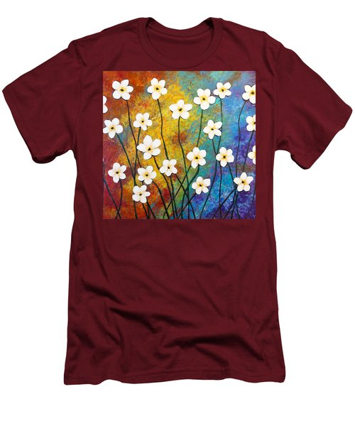 Frangipani Explosion Men's T-Shirt (Athletic Fit)