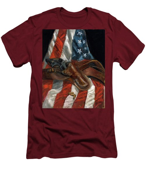 Freedom Men's T-Shirt (Slim Fit) by Billie Colson