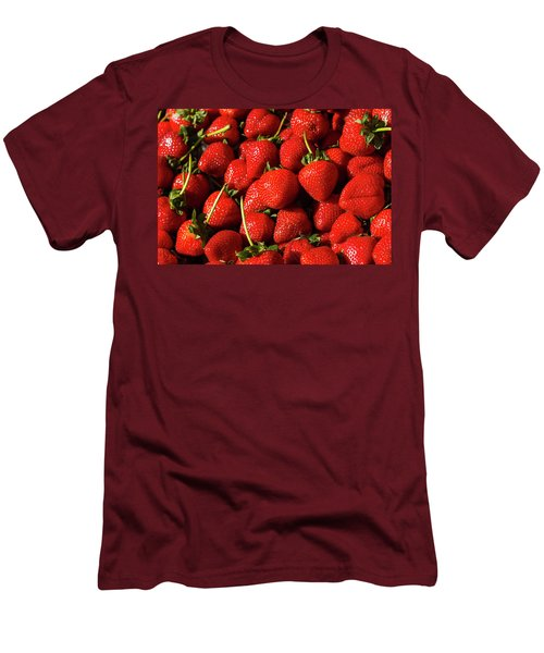Fresh Strawberries Men's T-Shirt (Athletic Fit)