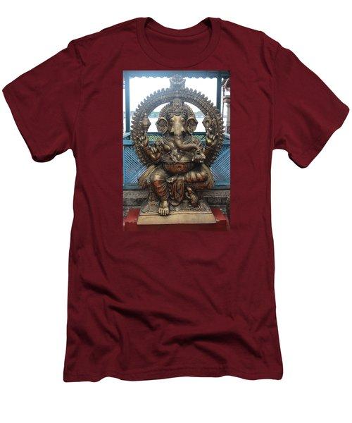 Ganapati Bronze Statue, Fort Kochi Men's T-Shirt (Slim Fit) by Jennifer Mazzucco