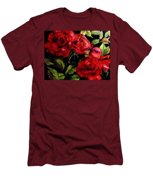 Garden Roses Men's T-Shirt (Slim Fit) by Carol Grimes