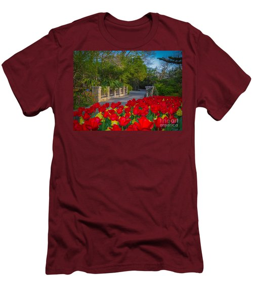 Garden Tulips Along The Trail Men's T-Shirt (Athletic Fit)