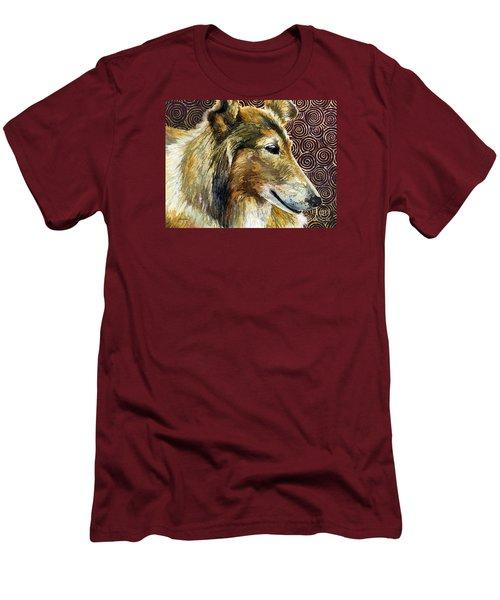 Gentle Spirit - Reveille Viii Men's T-Shirt (Slim Fit) by Hailey E Herrera