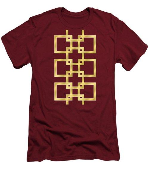 Geometric Transparent Men's T-Shirt (Slim Fit) by Chuck Staley