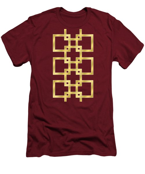 Geometric Transparent Men's T-Shirt (Slim Fit)