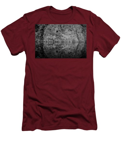Geometries On A Mountain Lake Men's T-Shirt (Athletic Fit)