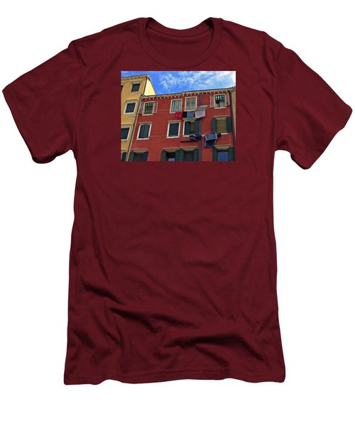 Men's T-Shirt (Slim Fit) featuring the photograph Getting To Know You by Lynda Lehmann