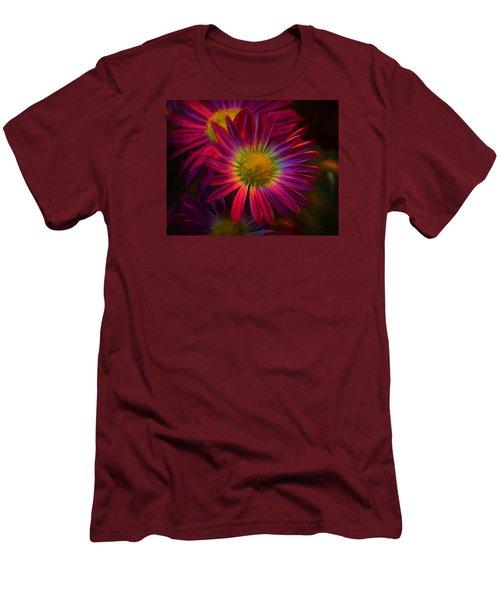 Glowing Eye Of Flower Men's T-Shirt (Slim Fit) by Lilia D