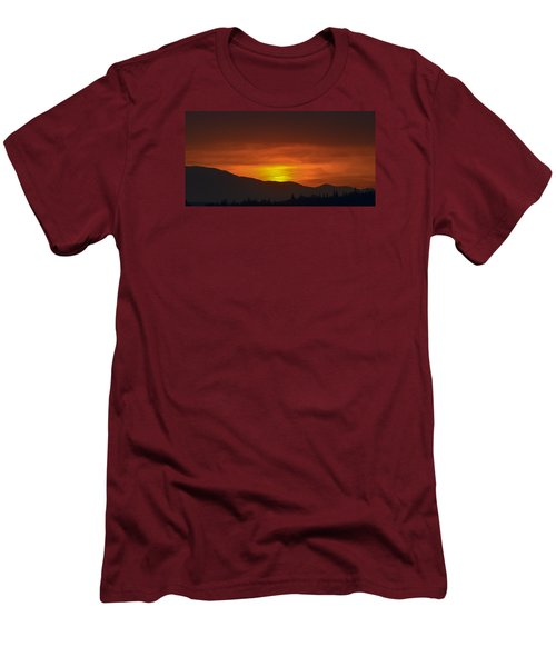 Men's T-Shirt (Slim Fit) featuring the photograph Going Down by Ronda Broatch