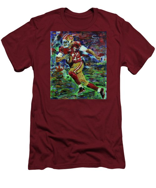 Gold Blooded 49ers Men's T-Shirt (Slim Fit) by Walter Fahmy