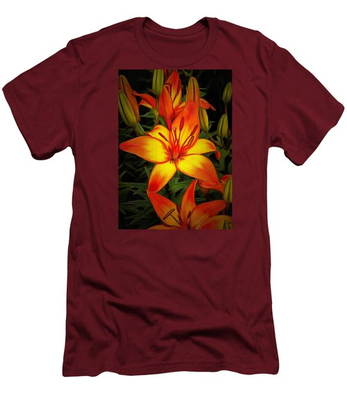 Golden Lilies Men's T-Shirt (Athletic Fit)