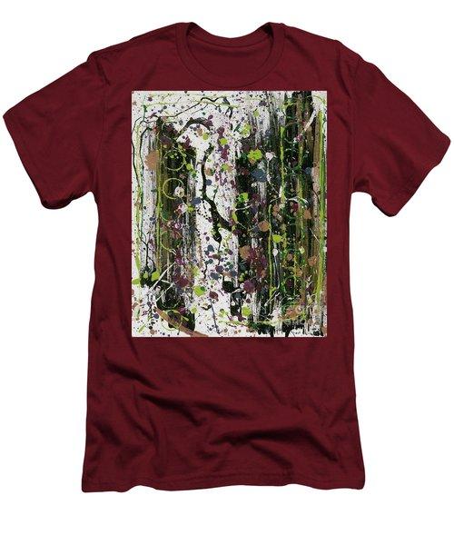 Golden Lime Royal Purple Dreams Men's T-Shirt (Slim Fit) by Talisa Hartley