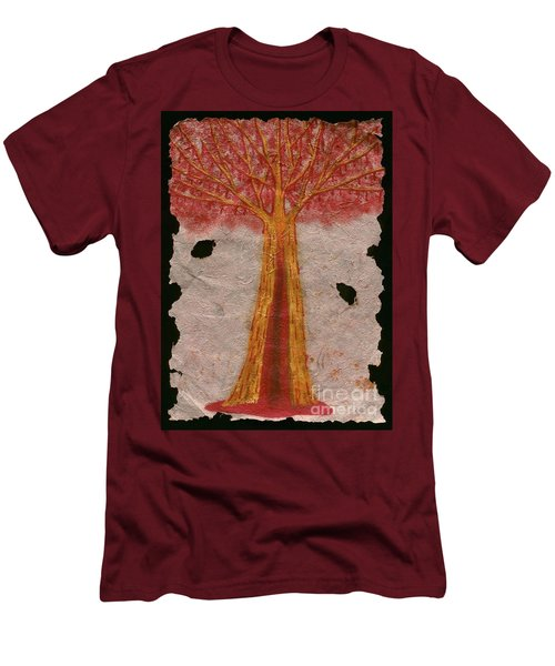 Golden Trees Crying Tears Of Blood Men's T-Shirt (Slim Fit) by Talisa Hartley