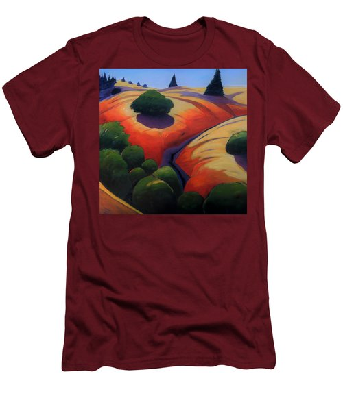 Men's T-Shirt (Slim Fit) featuring the painting Gully by Gary Coleman