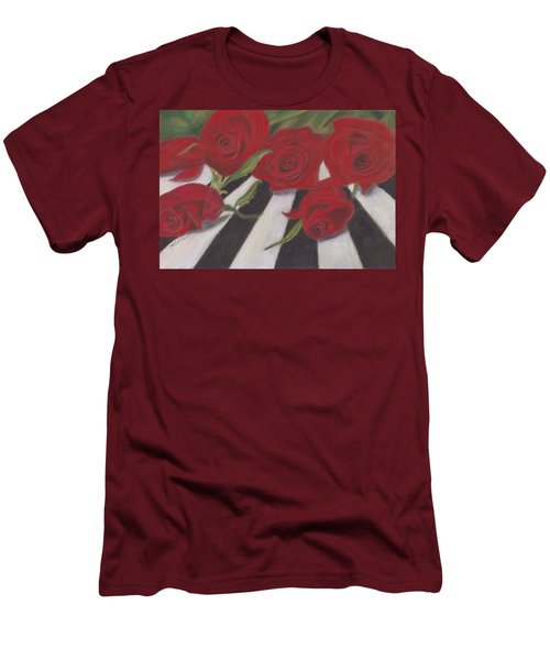 Men's T-Shirt (Slim Fit) featuring the painting Half Dozen Red by Arlene Crafton